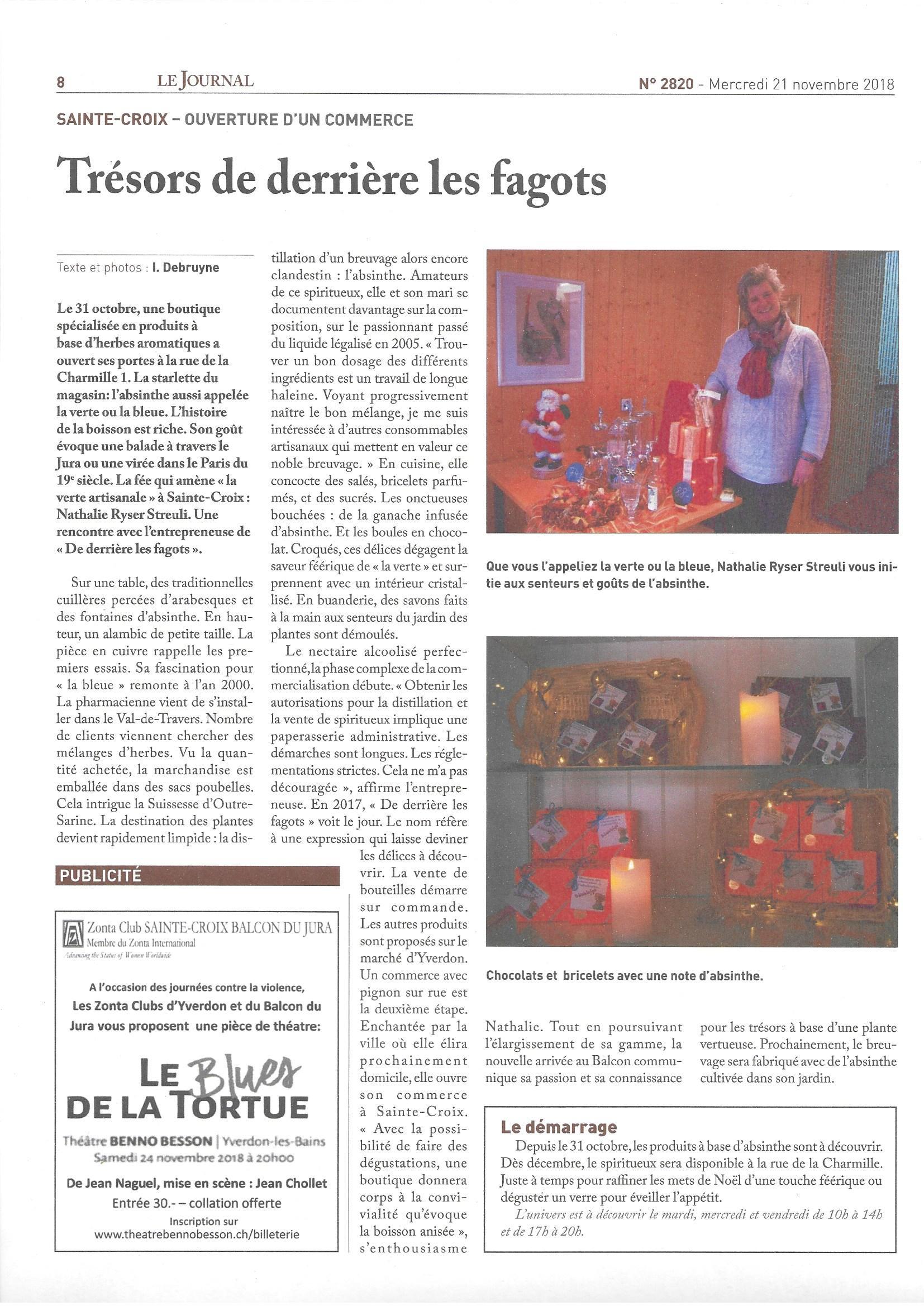 Article Journal de Ste-Croix